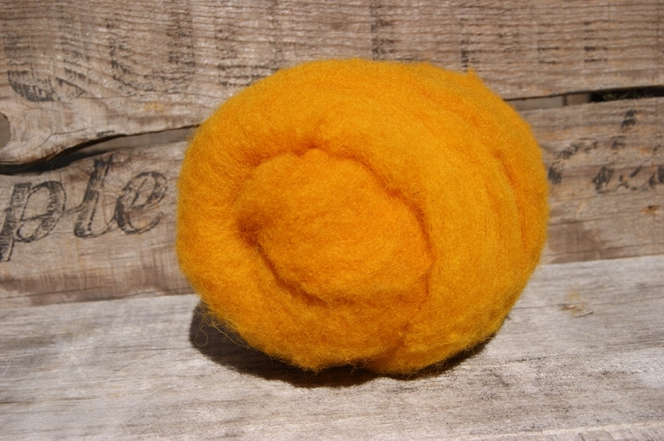 Kettle Dyed Needle Felting Wool Curry