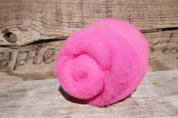 HOT PINK Needle Felting Wool