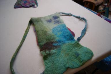 Nuno felting class - seamless handbag