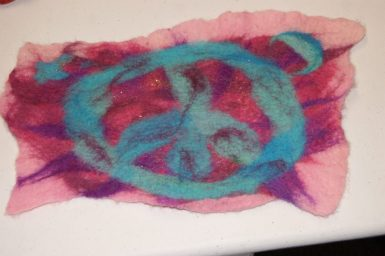 Wet Felting Class - Painting with Wool