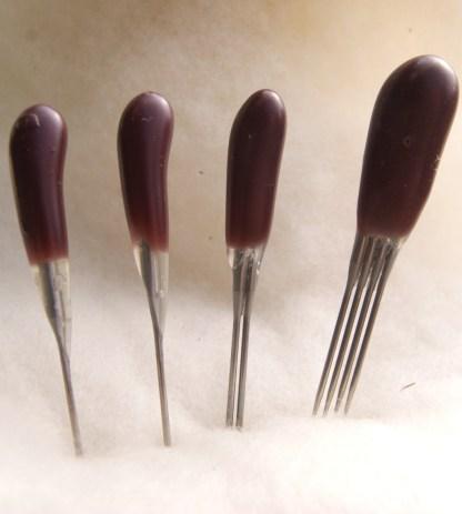 purple twist blade felting needles combo + quad pack