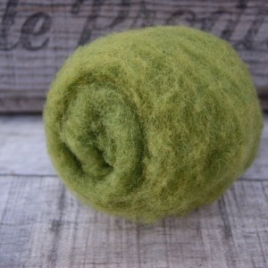 Avocado Green Needle Felting Wool