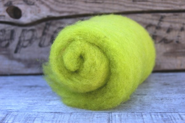 Lemon Lime Needle Felting Wool