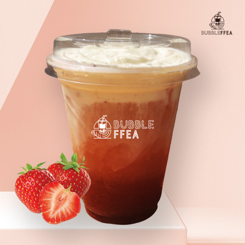 Bubbleffea cloudy strawberry jasmine tea