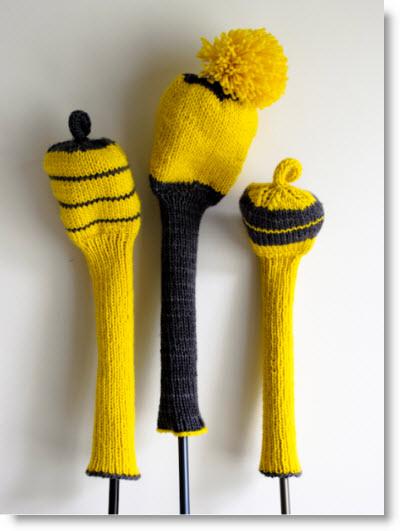 Knit Golf Club Covers Free Pattern - Felting