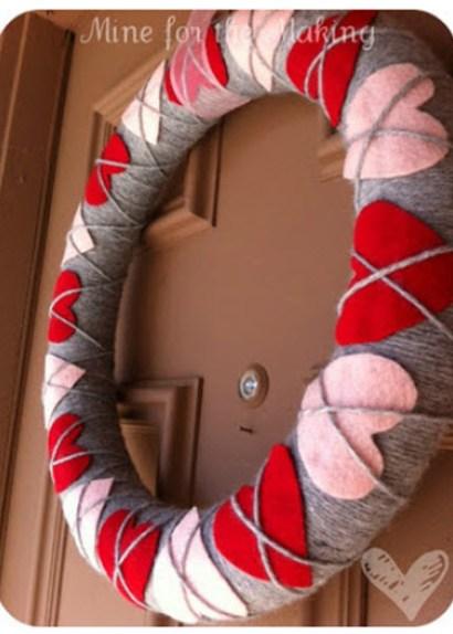 Heart Argyle Valentine's Wreath