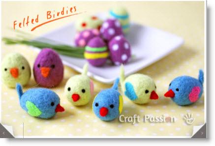 felted little birds