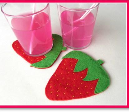 Strawberry Coaster