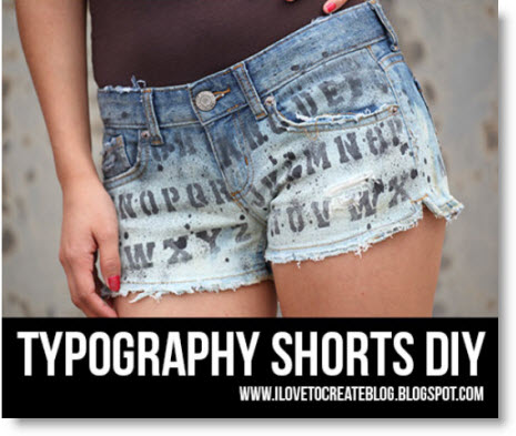 typography shorts