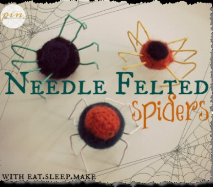 Needle Felted Spiders
