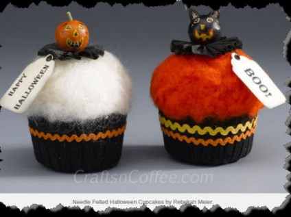 Needle Felted cupcakes