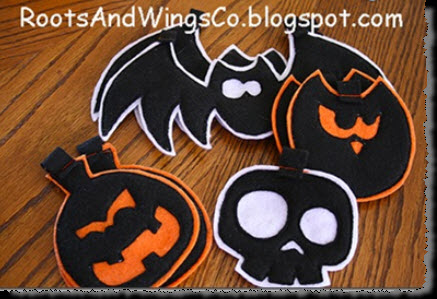 Scary Felt Halloween Garland2
