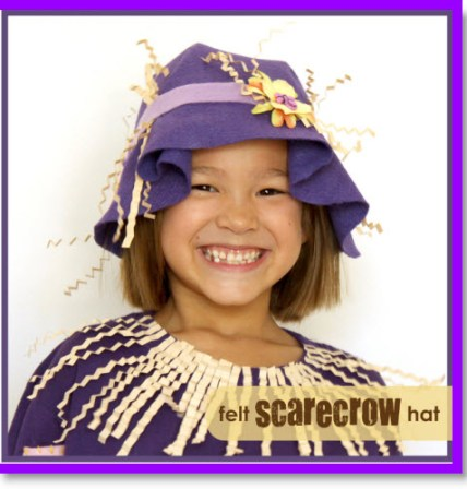 Felt Scarecrow Hat Tutorial