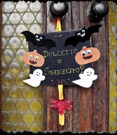 Halloween decoration Door Sign