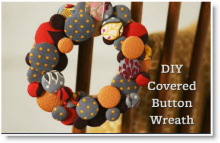 DIY Button wreath