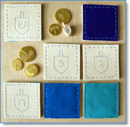 Hanukkah Dreidel Coasters