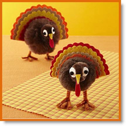 Pom-pom turkeys