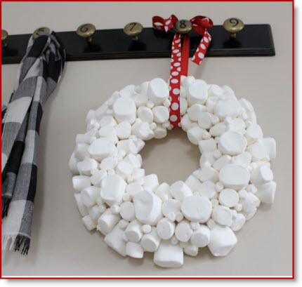 Marshmallow Wreath Make It Close To Christmas And Then Make S Mores