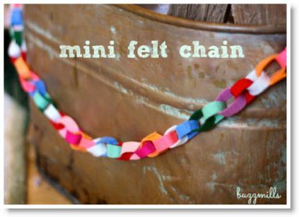 Mini Felt Chain DIY2