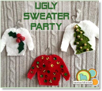 Ugly Sweater Felt Christmas Ornaments