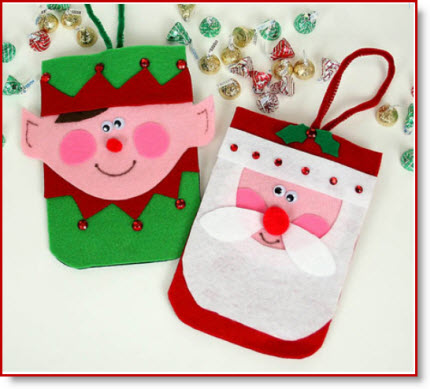 felt craft ideas for christmas no sew purses santa amp purse tutorial and 6573