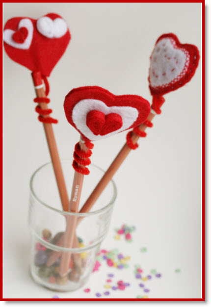 Felt Heart Pencil Topper
