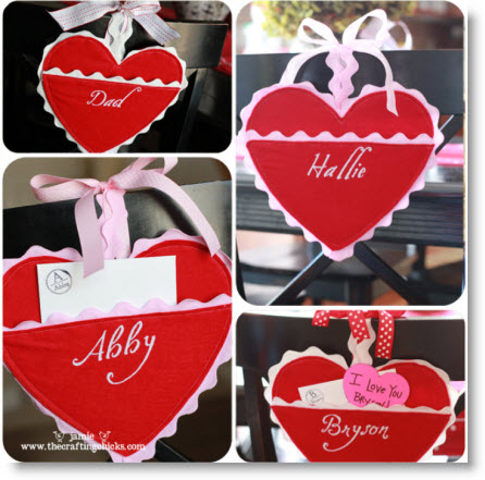Felt Heart Valentine Holders