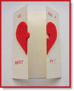 Valentine's Day Card Felt inside