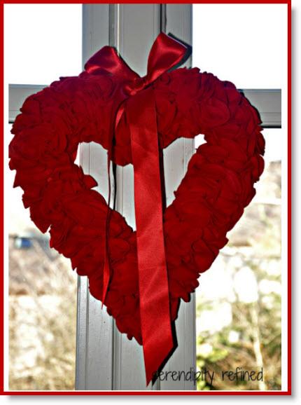 Valentines Day Felt Wreath