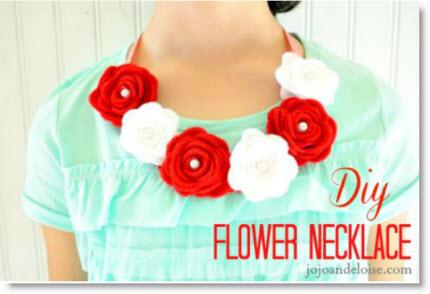 felt rose necklace