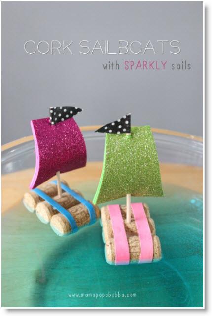 Crafts For Kids Cork Sailboats Felting