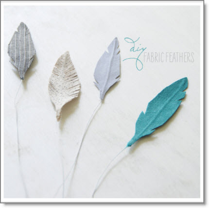 DIY fabric feathers – 3 ways