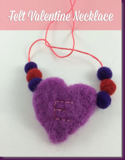 Felt Valentine Necklace