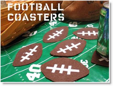 Footballs coasters