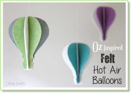 Felt Hot Air Balloons