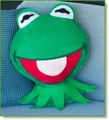 Kermit pillow