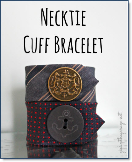 DIY: T-Shirt into Infinity Scarf & necktie cuff bracelet