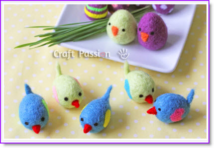 felted chicks