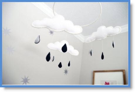 How to Make a Cloud Nursery Mobile
