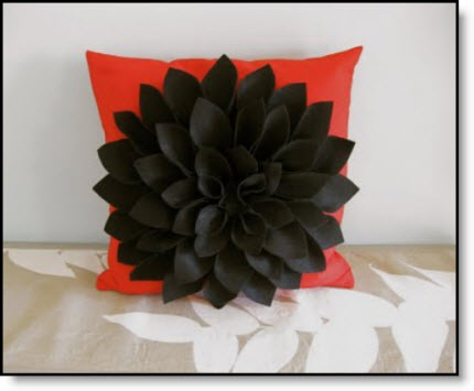 Felt Chrysanthemum Pillow tutorial