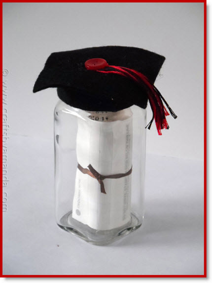 Graduation Cap Gift Jar