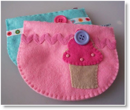 2-layer hand stitched cupcake purses tutorial