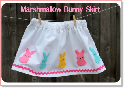 Kid's clothes week: marshmallow bunny skirt + tutorial