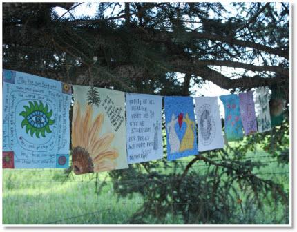 Prayer Flags; part 1-2-3-4 tutorials