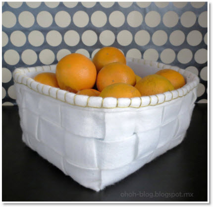 recycled felt basket