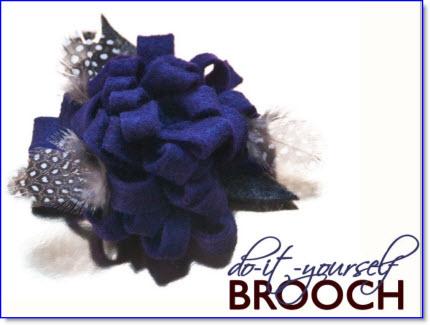 Felt-Flower Brooch