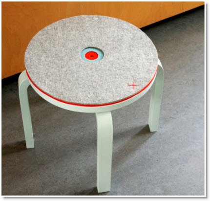 Ikea Frosta Stool With Felt As An Upholstered Pad Felting