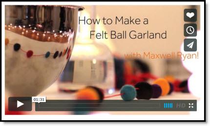 felt ball garland