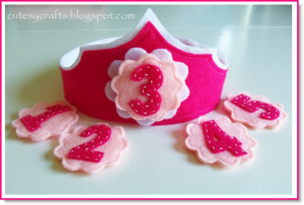 Felt Birthday Crown with Interchangeable Numbers