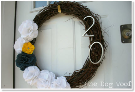 House Number Door Wreath